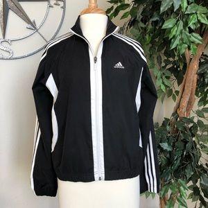 Adidas Track Style Jacket - Black and White